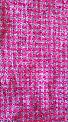 Vintage Welsh Wool Fabric, Pink and Purple, Tapestry, 1960s