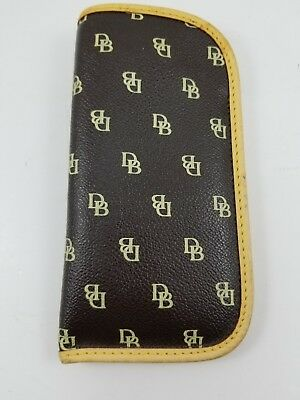 Dooney and Bourke Dark Brown Eyeglass Case