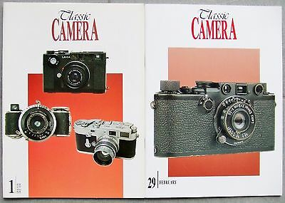 CLASSIC CAMERA MAGAZINE. 2 x ISSUES. Nos 1 & 29 LEICA, CONTAX, ROLLEI etc