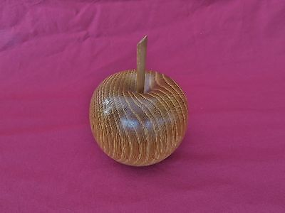 Turned Wooden Apple Made from Oak