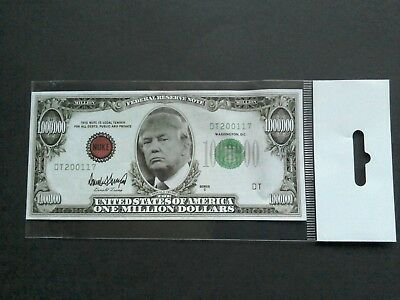 Donald Trump Novelty Banknote  One Million Dollar Banknote / New Sealed