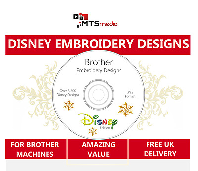 Large Disney Brother Embroidery Design Collection with Viewer Software
