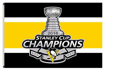 Pittsburgh Penguins 2016 Stanley Cup Champions flag 3x5ft