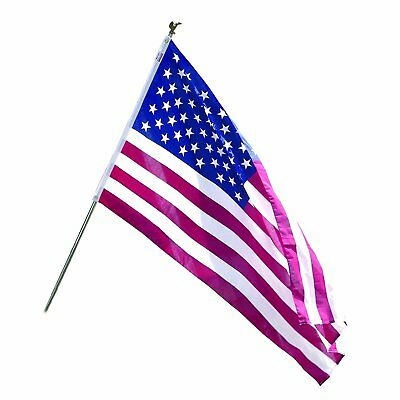 American Flag Pole Holder Stand with Flag and Heavy Duty 6 Ft US American Flag