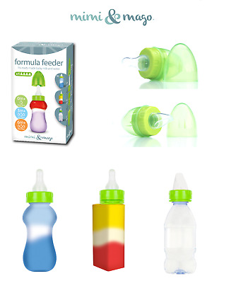 Mimi & Mago 3 in 1 Teat / Spout For Water Juice Milk Bottles And Carton 1/2/4 PK