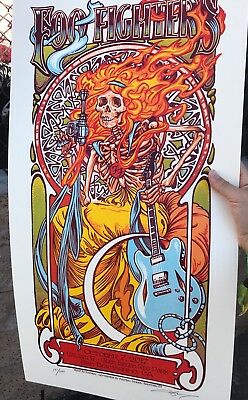 Foo Fighters Cal Jam Screen Print Lithograph Poster 2017 AJ MASTHAY 191/500!