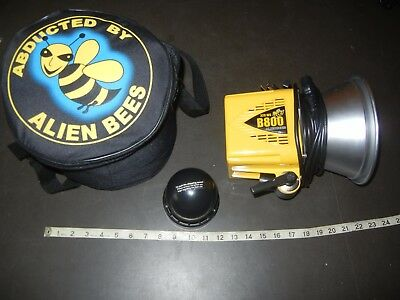 Paul C Buff Alien Bee B800 150W Flash Unit with padded case camera equipment