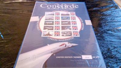 Buckingham Limited edition Concorde 30th Anniversary design and label sheet