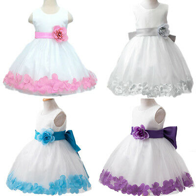 Girls Flower Bridesmaid Party Princess Prom Wedding Christening Communions Dress