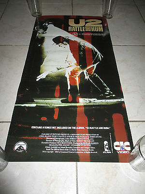 U2 Rattle And Hum Rare Affiche Display Promo Video 33 Cm X 66 Cm ( Not Cd Lp )
