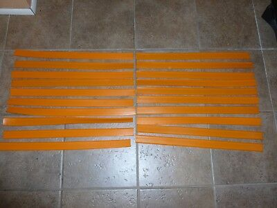 Lot of 20 Vintage Hot Wheels Orange Track Straight 24""