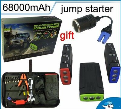 Mini Portable Emergency Battery Charger Car Jump Starter Multi-Function Booster