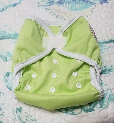 Kawaii One Size Diaper Cover 8-35lbs H&L - Green