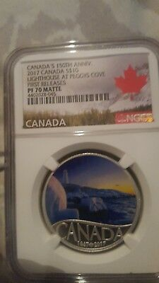 Canada's 150th ANNIV. 2017 CANADA S$10 lighthouse at Peggys