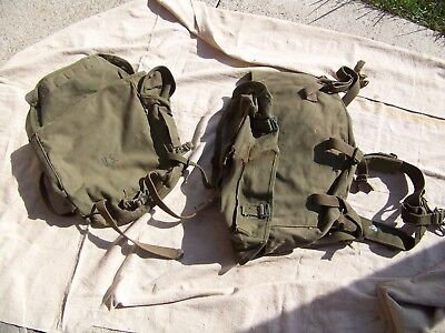 Vintage ORIGINAL WWII WW2 1940's US ARMY BACKPACK lot of 2