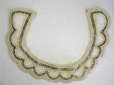 Vintage Beaded Collar Clothing Japan Faux Pearl Mid Century Clothing