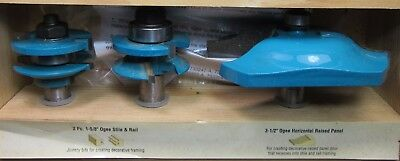 Carpenter Makita 3 Router Sharpers and Wood Box