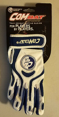 Combat Youth Coaches Choice Batting Gloves, White/Royal, YS