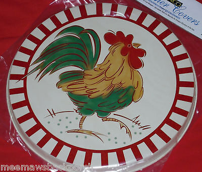 4 New Rooster Chicken Strut ROUND STOVE Eye Range Cook TOP BURNER COVERS