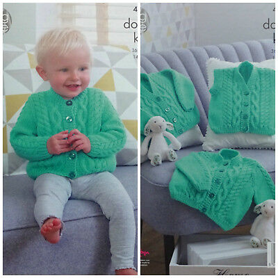 KNITTING PATTERN Baby Cable Cardigans & Waistcoat Comfort DK King Cole 4968