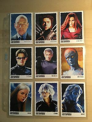 X-Men 3 The Last Stand Movie Chase Card Set Art & Images of the XMEN ART1 - ART9