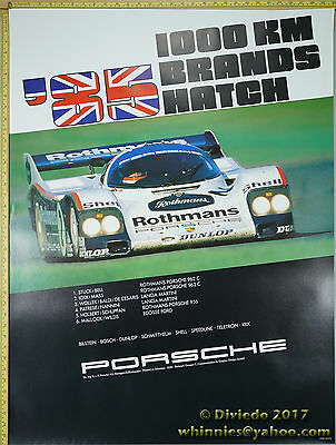 1985 1000km Brands Hatch Porsche Genuine Factory Poster Original