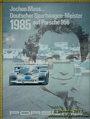 1985 Jochen Mass 956  Porsche Genuine Factory Poster Original