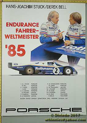 1985 STUCK BELL Endurance champion  Porsche Genuine Factory Poster Original