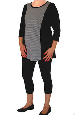 NEW Womens  Pregnant Maternity Leggings 3/4 Length