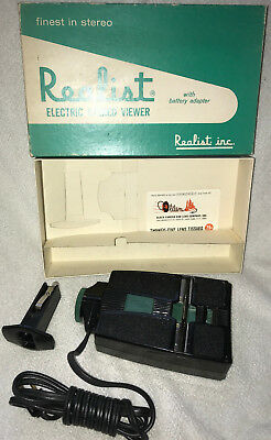 Vintage REALIST 3D Electric Stereo Slide Viewer with Battery Adapter in Box
