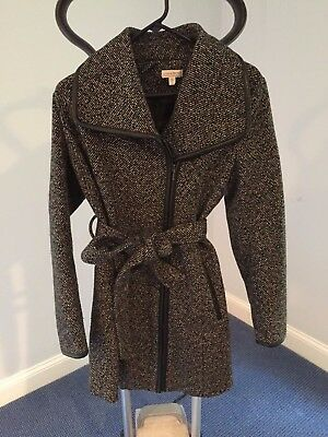 Great for FALL! A Pea in the Pod Wool Belted Coat (tweed)- Medium (true to size)