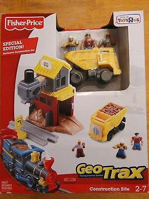 NEW Fisher-Price GeoTrax Construction Site TRU Limited Edition MINT NRFB HTF