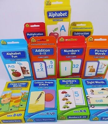 Flash Cards by Hinkler Early Learning Home Schooling from Ages 3-Up 11 Varieties