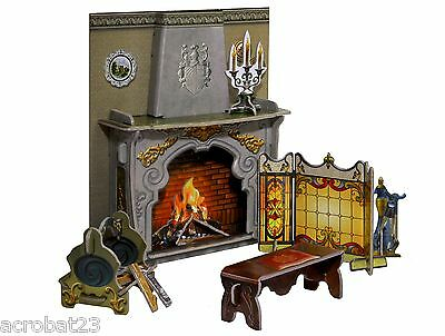 Furniture for Dolls FIREPLACE Dollhouse Miniature Scale 1:12 Model Kit Set