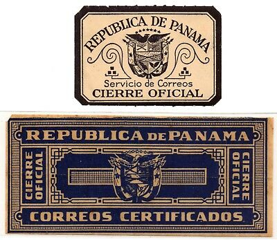 Panama - Two Official Seals: Cierre Oficial