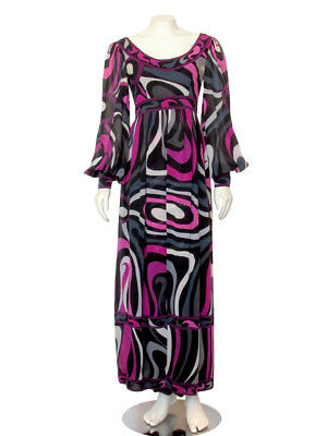 **TO DIE FOR!** 1960s Vintage EMILIO PUCCI Silk Palazzo Jumpsuit Vtg size 10 / M