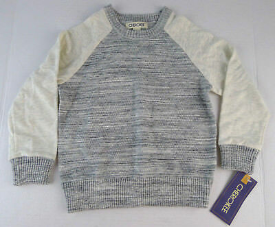 Boys Cherokee Toddler Pull Over Sweater Size 3T Gray Long Sleeve