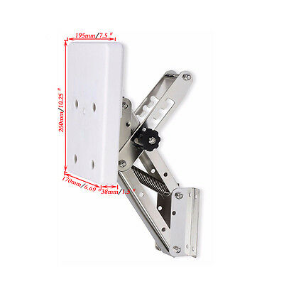 White Heavy Duty Stainless Steel Outboard Motor Bracket Up To 25hp 110 lbs Solid