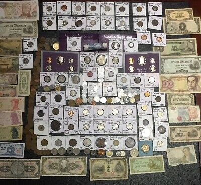 Huge Lot 250+USA&World Coin&Currency~Indians~1893Columbian~Proofs~Buffalos~More+