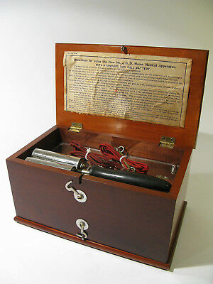 Antique Late 1800s No.4 D.D. Home Medical Apparatus with Accessories—Cherry Box
