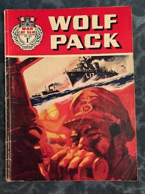 Vintage War At Sea Picture Library Comic Book #35 Wolf Pack