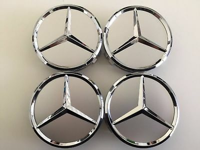 (4 groups) 75mm silver wheel RIM HUB CENTER CAPS WC4PC500 for Mercedes-Benz