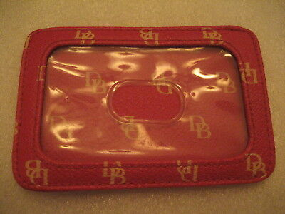 DOONEY & BOURKE Red / Cream ID Case Faux Leather