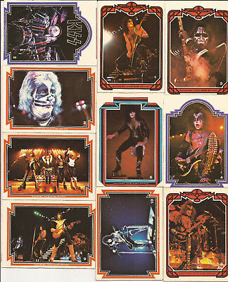 KISS Collector cards 1970's ACE FREHLEY and PETER CRISS