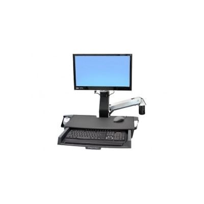 "Ergotron StyleView Sit-Stand Combo Arm with Worksurface 24"" flat bread"
