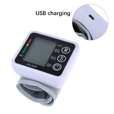 Best Pop Electronic Blood Pressure Monitor Battery Wrist Rechargeable Auto Pump