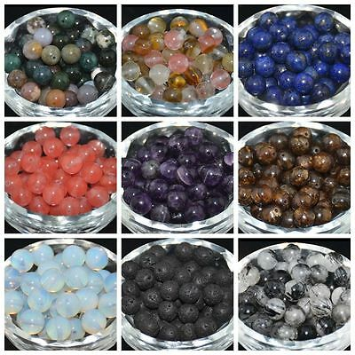 30pcs DIY Jewelry Making Wholesale Natural Gemstone Round Spacer Beads 6MM