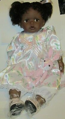 Paradise Galleries Baby TAYLOR w/Bunny African American Doll ByKathy Fitzpatrick