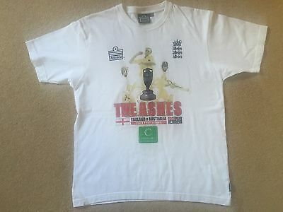 England vs Australia - Ashes 2001, Tour T Shirt - SIZE M (RARE)