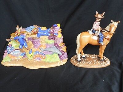Doulton Australian exclusive Bunnykins Great Barrier Reef DB507 & Jackaroo DB512
